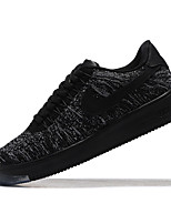 Nike Air Force 1 Flyknit Low Men's Fashion Sneakers skate shoes Flats Black / Black and Red / Orange