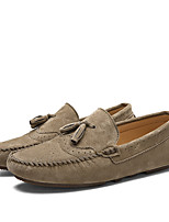 Men's Shoes Casual Leather Loafers Black / Blue / Brown / Gray / Khaki