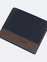 Bi-fold (due scomparti)-Pochette / Portafoglio / Porta carte di credito / Portamonete / Porta biglietti da visita-Uomo-Vacchetta-Blu /