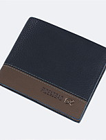 Hot 2016 New Designer Brand Business Black Leather Men Wallets Short Purse Card Holder Fashion Carteira