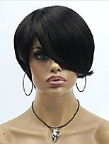 cheveux courts coupés perruques de cheveux humains non transformés vierges brazilian machine fait des cheveux humains perruques pas de