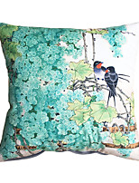 New Design Print Grape Birds Decorative Throw Pillow Case Cushion Cover for Sofa Home Decor Soft Material