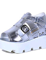 Women's Shoes Leatherette Summer Creepers Outdoor / Casual Platform Buckle Black / White / Silver