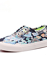 Girls' Shoes Outdoor / Athletic / Casual Comfort / Round Toe Canvas / Fabric Loafers / Espadrilles Blue / Pink
