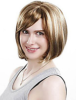 Middle Length Straight Hair European Weave Mixed Color Hair Synthetic Wig