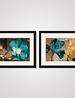 Framed Abstract Flowers Canvas Print 40x50cmx2pcs Modern Wall Art for Home Decoration Ready To Hang