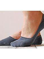 Men's 5Pair/Lot Bamboo Carbon Fiber Socks Invisible Pure Color Absorb Sweat Casual Boat Socks
