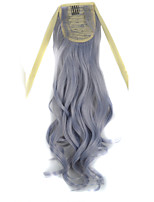 Europe and the United States Hot Sale Grey Ponytail Curly Synthetic Hair Ponytail