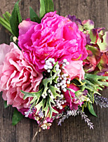 Silk Rosy Peonies and Hydrangea Artificial Flowers 1pc/set