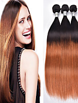 4Pcs/Lot Brazilian Virgin Hair Ombre Straight Hair 1b/30 Unprocessed Human Hair Weave Bundles