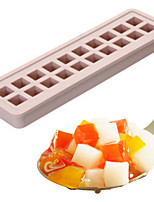 Silicone Square Ice Trays Chocolate molds Square Ice Cube Silicone Mold Ice Cream Cake Mould(Random Color)