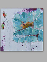 Oil Painting Modern Abstract Flower Hand Painted Canvas with Stretched Frame