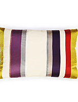 Colorful Striped Satin  Cushion Cover
