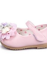 Baby Shoes Dress / Casual PU Flats Black / Pink / White