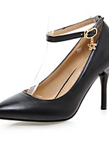 Women's Shoes Leatherette Chunky Heel Heels Heels Office & Career / Dress / Casual Black / Pink / Red / White