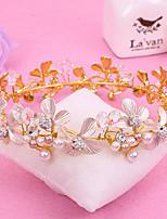 Bride's Rhinestone Imitation Pearl Wedding Hair Accessories Crown Tiaras Headwear 1 Pieces