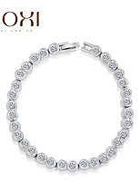 18k oro / argento gioielli braccialetto braccialetto di cristallo per la signora
