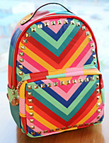 Women PU Bucket Backpack-Multi-color