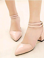 Women's Shoes Leatherette Chunky Heel Heels Heels Outdoor / Casual Pink / White