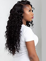 Deep Curly Hair Mongolian Virgin Glueless Full Lace Wig With Baby Hair Bleached Knots for Black
