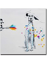 Oil Painting Modern Abstract Dog Hand Painted Canvas with Stretched Frame