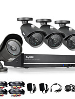 SANNCE® 8CH CCTV System 960H DVR 4PCS 1000TVL IR Weatherproof Outdoor CCTV Camera Home Security Surveillance Kits