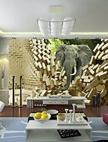 JAMMORY Large Murals of Elephants Animals / Landscape / Fantasy / 3D Wall Stickers ,Canvas S M L XL XXL 3XL