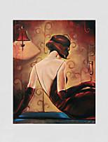 Met de hand beschilderde mensen / leisure modern olieverf, canvas één paneel