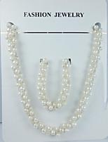 Conjunto de joyas Perla Perla De mujeres