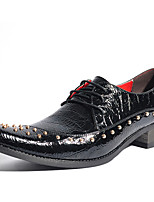 Men's Oxfords Spring Summer Fall Winter Formal Shoes Patent Leather Outdoor Office & Career Party & Evening Casual Red Black