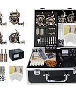 Basekey Tattoo Kit K0174 4Guns Machine With Power Supply Grips Cleaning Brush Needles