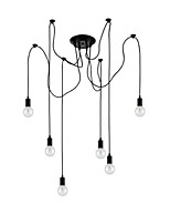 MAX:60W Vintage Mini Style / Designers Painting Metal Flush Mount Living Room / Dining Room / Study Room/Office