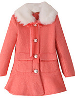Girl's Jacket & Coat,Polyester Winter Red / Gray