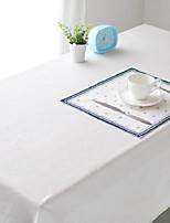 blanc pur tissu de table mode hotsale de haute qualité draps en coton table basse carrée couverture en tissu éponge