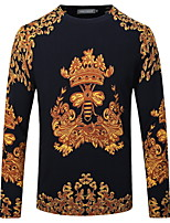 Men's Round Neck  Fashion Leisure Long Sleeved Printed Sweater