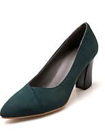 Chaussures Femme-Extérieure / Habillé / Soirée & Evénement-Noir / Vert / Gris-Gros Talon-Talons / Bout Pointu / Escarpin Basique-Talons-