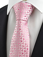 New Pink Arrow Pattern Unique Men's Tie Necktie Love Wedding Holiday Gift KT0064