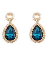 4 Colors White Blue Red Gold Water Shaped Romantic Rhinestone Lady Women Drop Earrings Wonderful Jewelry