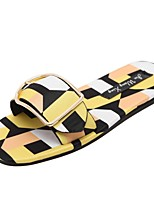 Women's Shoes Low Heel Rainbow Hues Slippers Sandals Outdoor / Dress / Casual Yellow / Pink