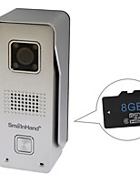 SmaInHand 720P HD Metal Outdoor WiFi Doorbell Video Door Phone with 8GB SD Card Inside