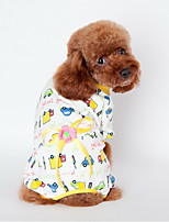 Dog Shirt / T-Shirt / Clothes/Clothing Blue / Pink / Yellow Spring/Fall Floral / Botanical / Bowknot Holiday-Lovoyager