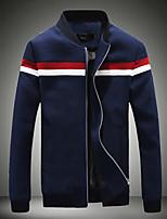 Men's Long Sleeve Jacket,Cotton Casual Patchwork