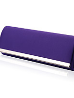 Women Satin Minaudiere Shoulder Bag / Clutch / Evening Bag-White / Purple / Red / Black