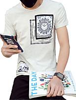2016 male short sleeved t-shirt t-shirt slim minimalist half sleeve T-shirt male Korean youth tide male lattice