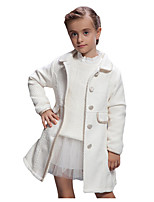 Girl's Jacket & Coat,Cotton Winter White