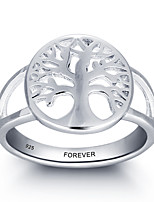 2016 Fashion Customs Name Personalized 925 Sterling Silver Tree Ring For Women
