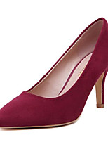 Women's Shoes Fleece Stiletto Heel Heels Heels Party & Evening Black / Pink / Red / Burgundy