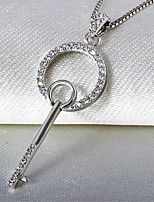 Silver Lucky Key Necklace