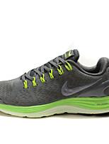 Nike Flyknit libre para hombre lunares zapatos corrientes de las zapatillas de deporte entrenadores negro / azul / gris