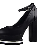 Women's Shoes Fleece Stiletto Heel Heels Heels Casual Black / White